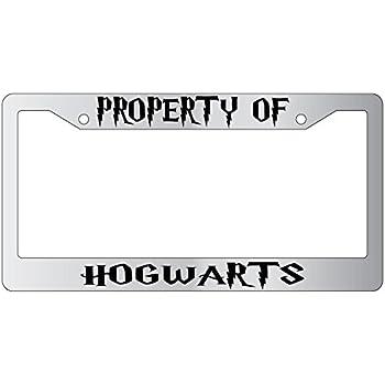 Amazon Com Property Of Hogwarts Chrome Plastic License