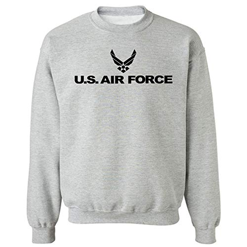 Air Force - Military Style Physical Training Crewneck Sweatshirt in Gray - - Force Air Sweatshirt Crewneck