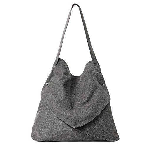 Aoligei Sac Art Oblique de loisirs d'étudiant du sac à bandoulière unique clocharde toile cross mode portable cabas A