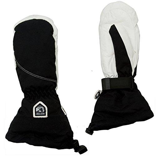 Hestra Women's Heli Mitt Glove (Black/Off White, 8) by Hestra