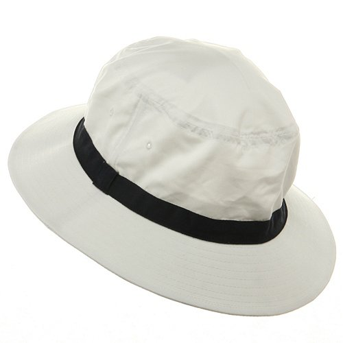 c969b9419e0 Oversized Water Repellent Brushed Golf Hat - White Navy (For Big Head)