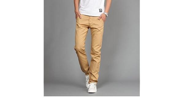 7fcb4324 Amazon.com: Miki Da New Design Casual Men pants Cotton Slim Pant Straight  Trousers Fashion Business Solid Khaki Black Pants Men Plus Size 38: Clothing