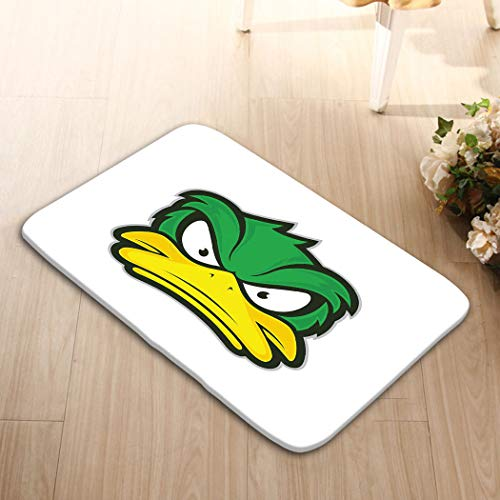 bo5 Print Bath Rugs Bathroom Accessories Non-Slip Doormat Floor Entryways Indoor Front 23.6 by 15.7 Inch Angry Duck Mascot Clipart Picture Cartoon Logo cha