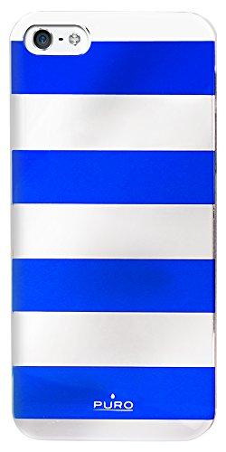 Puro Back Case - Stripe - Apple iPhone 5/5S - blau