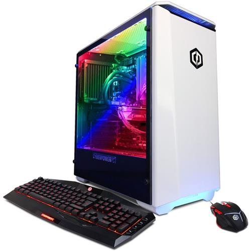 CyberPowerPC Gamer Xtreme Desktop Intel Core i7 16GB Memory AMD Radeon RX 580 1TB HDD White GLC5202OPT