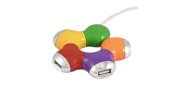 Amazon.com: eDealMax Multicolor Floral en Forma de USB 2.0 Con Cable concentrador DE 4 puertos Para PC portátil: Electronics