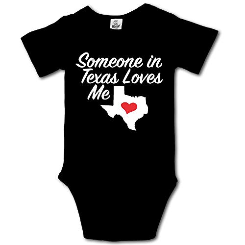 Somebody in Texas Loves Me Baby Unisex Toddler Bodysuit Short Sleeves Romper Jumpsuits ()