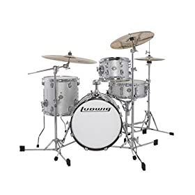 Ludwig Breakbeats by Questlove 4-Piece Shell Pack with Snare Drum - White Sparkle 7