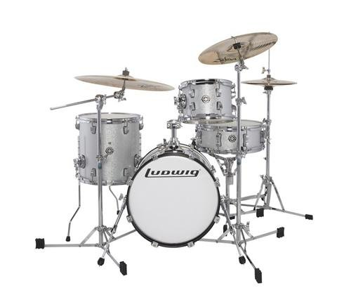 Ludwig Breakbeats by Questlove 4-Piece Shell Pack – White Sparkle