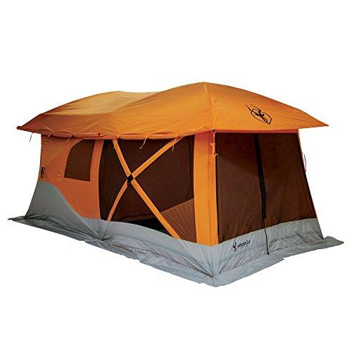 Gazelle 26800 T4-Plus Pop-Up Portable Camping Hub Tent, Orange, 4-8 Person