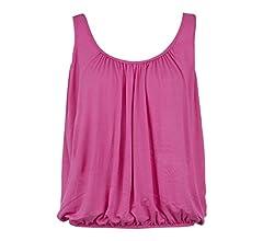 BNWT Women/'s Vest Top Loose Fit Elasticated Waist Sleeveless T Shirt