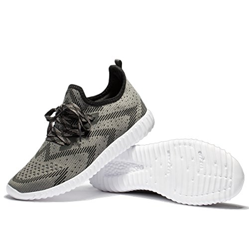 Dark Shoes Training Men's Knit Sneakers Athletic Shoes Grey Cross VANSKELIN Shoes Outdoor Lightweight Running 7wTnzXRxq