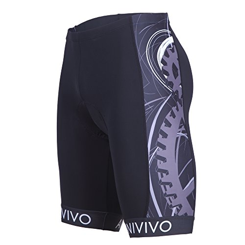ANIVIVO Mens Cycling Shorts 3D Gel Padding with Imported Non-Slip Belt, Bike Shorts(B-Grey,M) Review