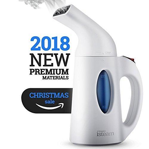 Steamer For Clothes, Handheld Clothes Steamers.4-in-1 Powerful Steamer Wrinkle Remover. Clean, Sterilize and Steamer Garment and Soft Fabric. Portable, Compact-Travel/Home.Ultrafast-100% Safe - isteam (Transparent Tank Water)