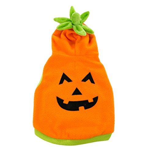 Martha Stewart Pets Pumpkin Face Dog Hoodie~XS~ ()