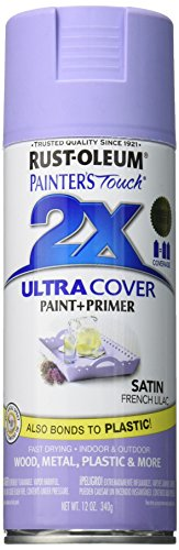 Rust-Oleum 249079 Painter's Touch 2X Ultra Cover, 12-Ounce, Satin French Lilac ()