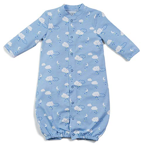 - Egg New York Layette Gown (NB-6M), Sky Blue, OS