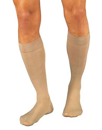 JOBST Relief Knee High 15-20 mmHg Compression Stockings, Closed Toe, X-Large Petite, Beige - Jobst Knee Length Stockings