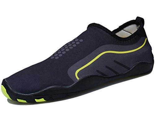 Cool walker Männer Frauen Kinder Wasser Schuhe Leichte Schnell Trocken Barfuß Aqua Sports Sneaker Für Strand Schwimmen Schwarz Gelb
