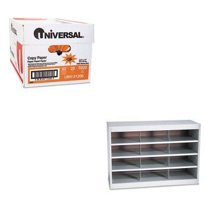 KITSAF9254GRUNV21200 - Value Kit - Safco Steel Project Center Organizer (SAF9254GR) and Universal Copy Paper (UNV21200)