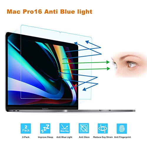 FORITO 2-Pack Compatible MacBook Pro 16-Inch Screen Protector -Blue Light Filter