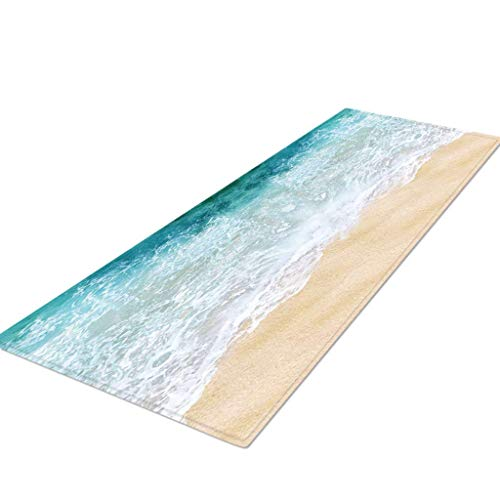KLHNU Rugs Kitchen Rug Non Skid Small Accent Throw Rugs for Entryway and Bedroom(Q,40x120cm)