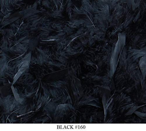 Cozy Glamour Solid Feather Boas 6 Foot Long 50 Gram in a Variety of Shades Great for Parties, Crafts, and Fun! (Black #160)]()