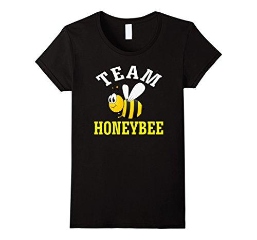 Womens Team Honeybee Bee Bumble Bee Funny Cute T-Shirt Tee Medium Black (Bumble Bee T Shirt)