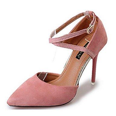 Pu Blushing 7 Rosa 5 Tacones Primavera Cms Mujer Gris Negro ggx Pink Verano Casual Confort Lvyuan qw67IvxP