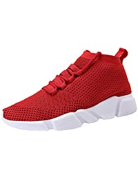 Mens Casual Athletic Sneakers Knit Running Shoes Tennis Shoe for Men Walking Baseball Jogging