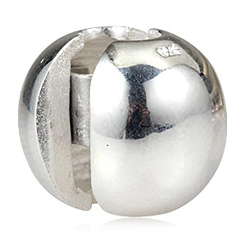 Shpere/Round Clips 925 Sterling Silver Round Lock Stopper Clip Bead for European Style (925 Silver Lock)