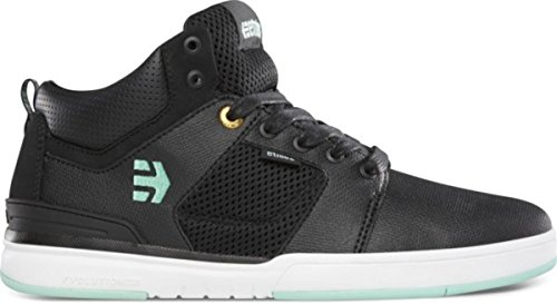 Etnies Skateboard Shoes High Rise Black/White/Turquoise Etnies Shoes