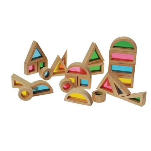 (Constructive Playthings CHG-32 Color Mixing Blocks for Building and Light Tables, 8.4