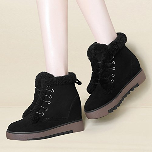 Demi Bottes Neige Boots Chaude Femmes Fashion Martin Coton Boots Antid Microfibre EWpfqUnf