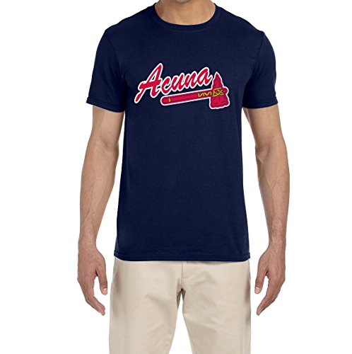 Tobin Clothing Navy Atlanta Acuna Logo T-Shirt Adult Medium ()