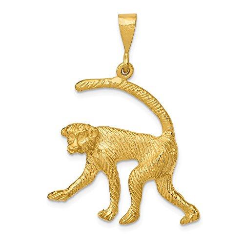 14k Gold Monkey Charm - FB Jewels 14K Yellow Gold Monkey Charm