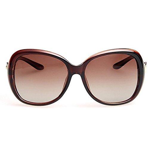 Aire Color Marrón Gafas Fundamentos Sombra Polarizadas BSNOWF Gafas Del Marrón Deportes Libre UV Anti Femeninas Ocular de Protección Viaje sol Al awHSnUa