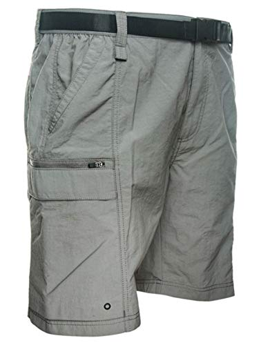 (Coleman Men's Outdoor Hiking Nylon Cargo Shorts (Medium, Steel Grey))