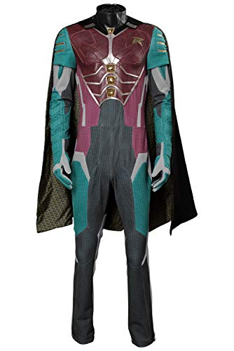 COSMOVIE Robin Cosplay Costume for Teen Men's Dick Grayson Full Set Halloween Costumes]()
