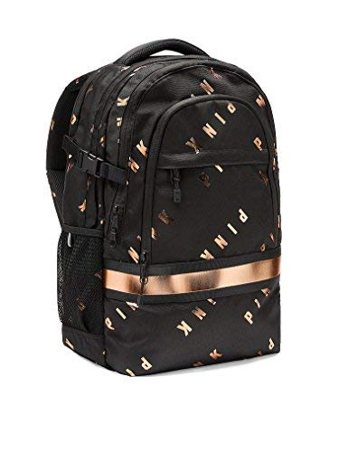 Victoria's Secret Pink New Collegiate Backpack (Pure Black) by VS Pink