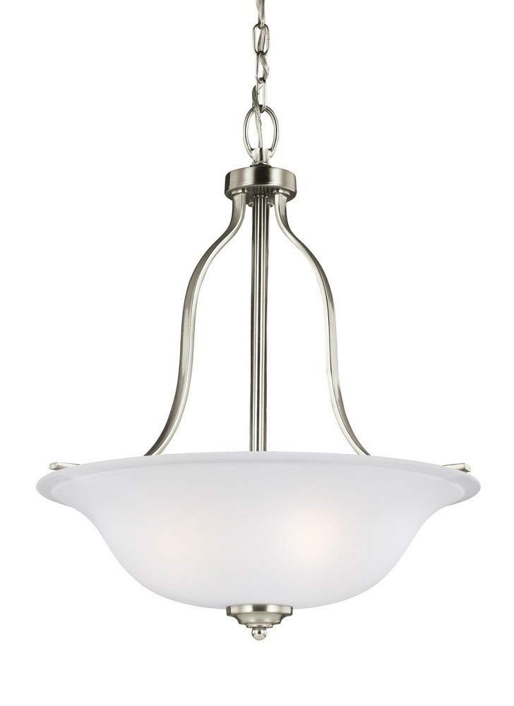 Sea Gull Lighting 6639003EN3-962 Three Light Pendant Brushed Nickel