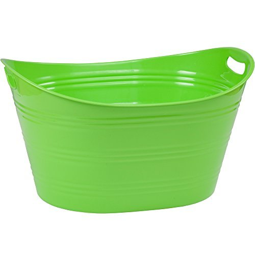CreativeWare PTUB-LME 8.5 Gallon Party Tub, Lime]()