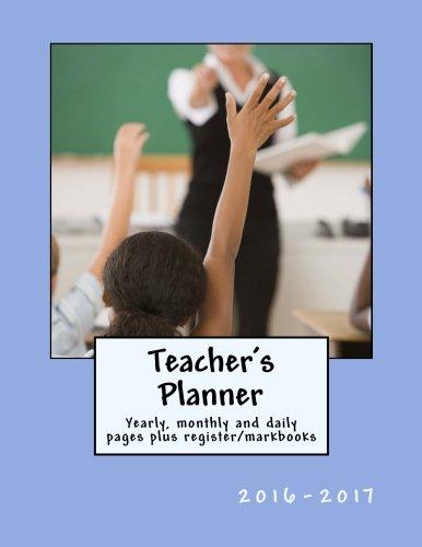Teachers Planner 2016 2017 register markbooks