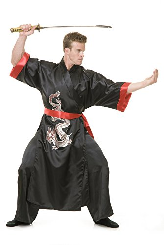 Charades Men's Samurai, Black/red, Medium