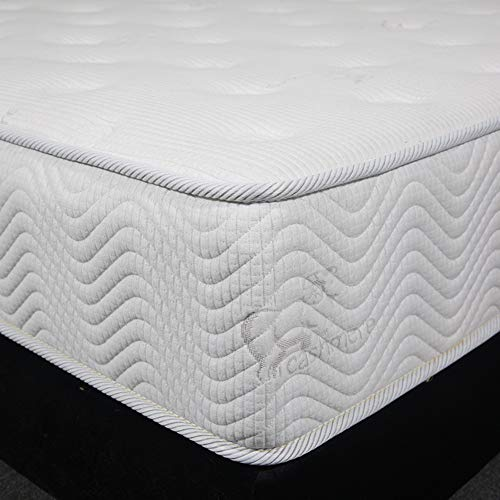 Multi-Layer Hybrid Mattress,pillowtop 25cm Innerspring Bed in A Box Medium Firm Plush Feel Memory Foam and Pocket Spring Hotel-White 120x200cm(47x79inch)