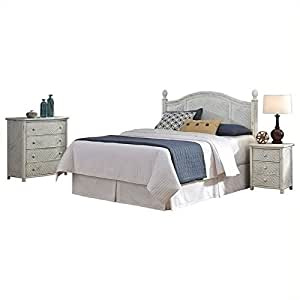 Bowery hill queen bedroom set in weather worn for Bedroom furniture amazon