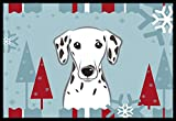 Caroline's Treasures Winter Holiday Dalmatian Indoor or Outdoor Mat, 18 by 27″, Multicolor