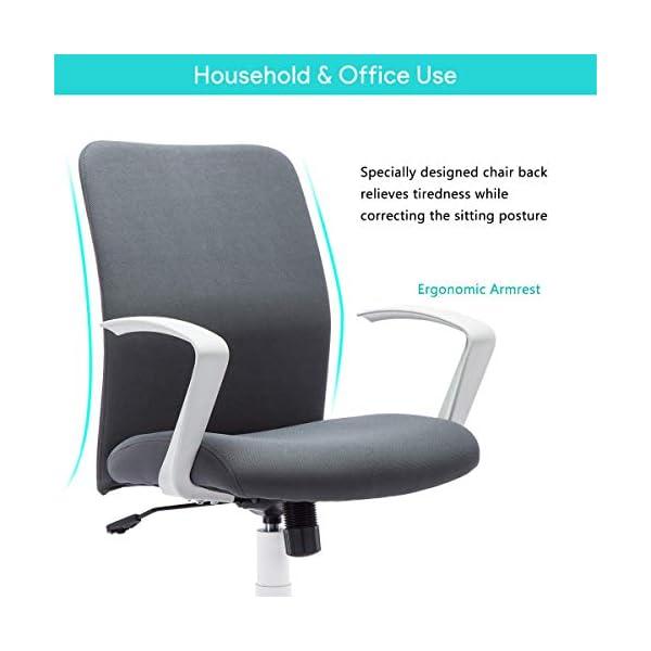 IntimaTe WM Heart Fauteuil de Bureau en Tissu, Chaise d'Ordinateur Pivotante à 360° pour Maison et Bureau, Hauteur…