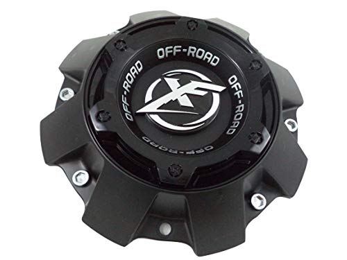XF Offroad Wheels Flat Blk/Gloss Black Top Short Custom Center Cap # 1444L227 (1 - Off Custom Road Wheels