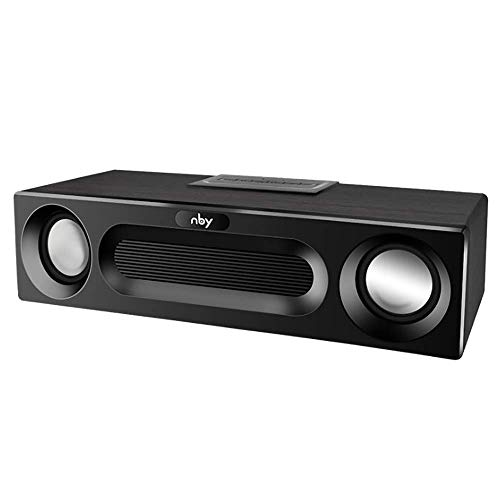 (Bluetooth Speaker, 10W 360° Surround Wireless Mini Computer Audio Game TF Card Subwoofer FM Radio, Support Mobile/Computer/ipad,Black)